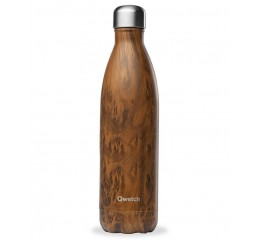 "copy of QWETCH - Bouteille Nomade Isotherme  ""Wood Brun"" 260ml"