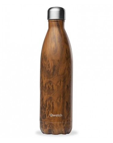 """copy of QWETCH - Bouteille Nomade Isotherme  """"Wood Brun"""" 260ml"""