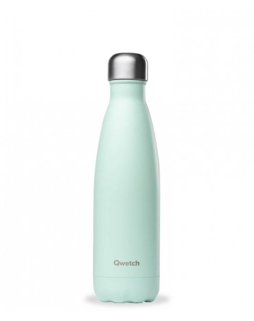 """QWETCH - Bouteille Nomade Isotherme  """"Pastel Vert"""" 500ml"""