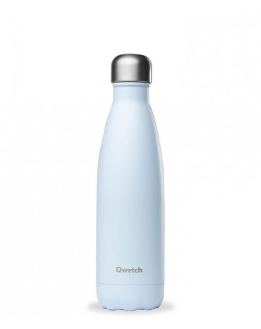 """QWETCH - Bouteille Nomade Isotherme  """"Pastel Bleu"""" 500ml"""