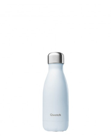 """QWETCH - Bouteille Nomade Isotherme  """"Pastel Bleu"""" 260ml"""