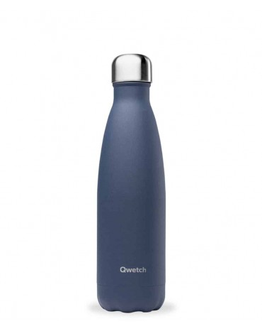 """QWETCH - Bouteille Nomade Isotherme """"Granite Bleu Nuit"""" 500ml"""