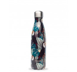QWETCH - Bouteille Nomade Isotherme Tropical Toucan 500ml