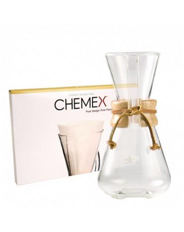 Cafetière Chemex en verre 1 à 3 tasses