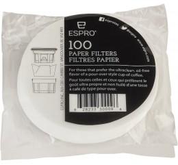 ESPRO / 100 Filtres papiers ronds pour Espro Travel Mug